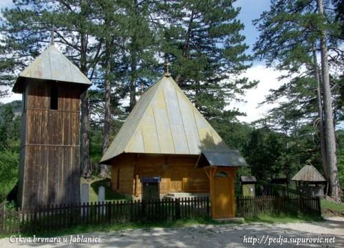 Crkva brvnara - Jablanica