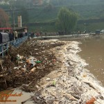 uzice-poplava-reka je branu pritisla ogromnim nanosima svakojakog materijala