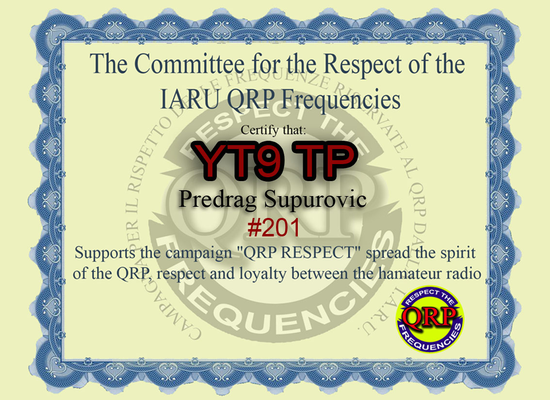 YT9TP QRP respect