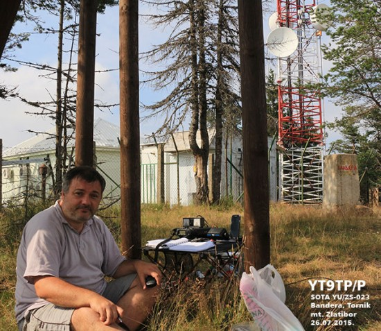 Settled down for SOTA YU/ZS-023 activation