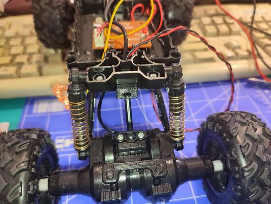 Monster Truck Remote Control assembled connector holder