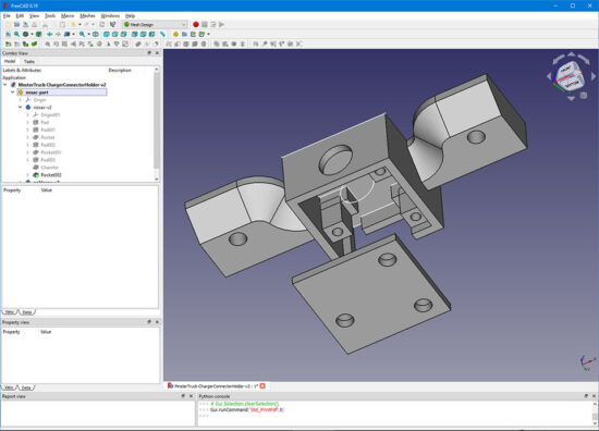 Monster Truck Remote Control connector holder FreeCAD model